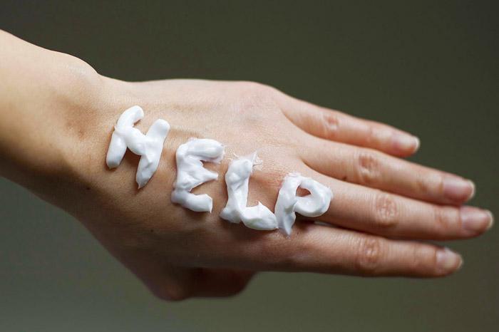 Сухость кожи рук