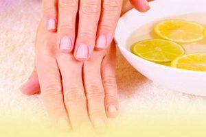 Ванночки для рук с лимоном