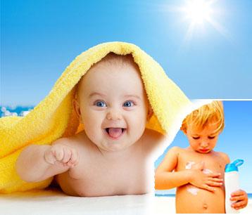 Защитный крем от солнца детям