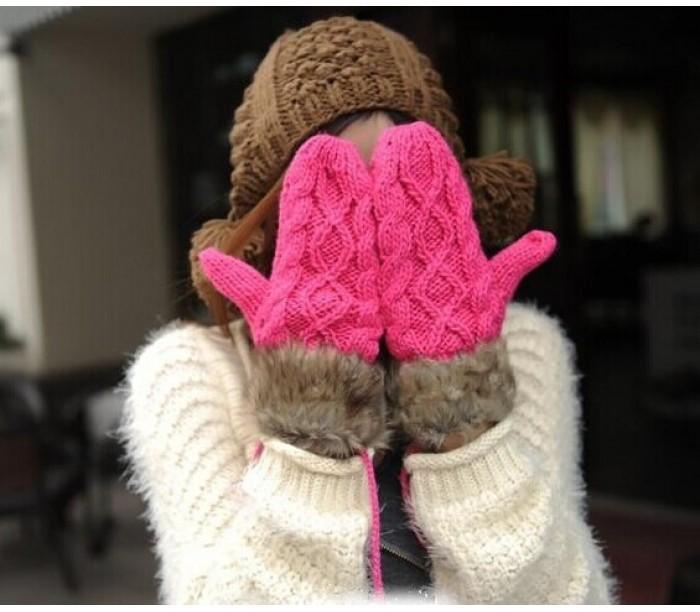 Тёплые рукавицы в мороз